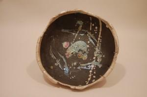 Round Raku bowl