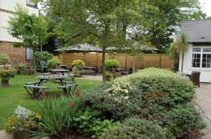 the garden at the Fox & Goose