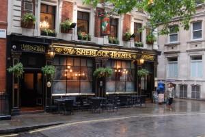 The Sherlock Holmes Pub where I had Bangers and Mash!!! and BEER